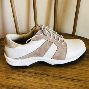 FootJoy Contour Series White & Sand Golf Shoes